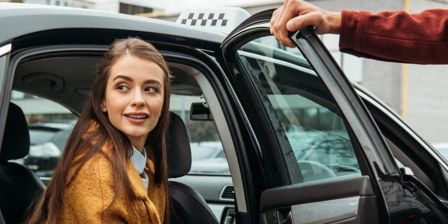 taxi passagiers